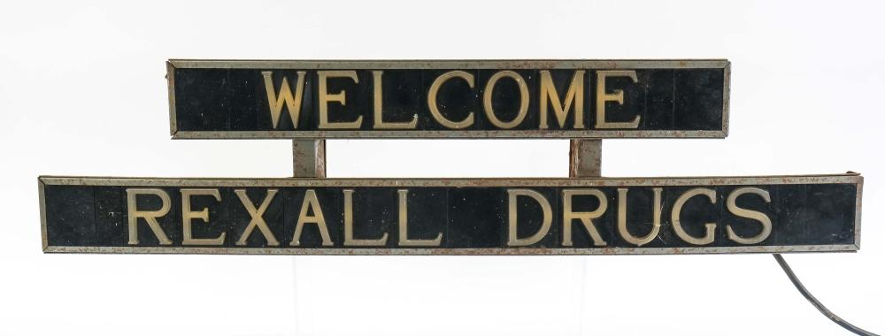 Rexall Drug Store Lighted Welcome Sign