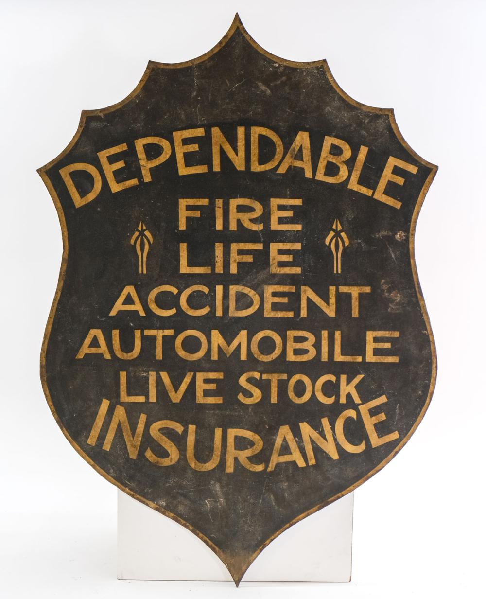 Cast Iron Insurance Sign