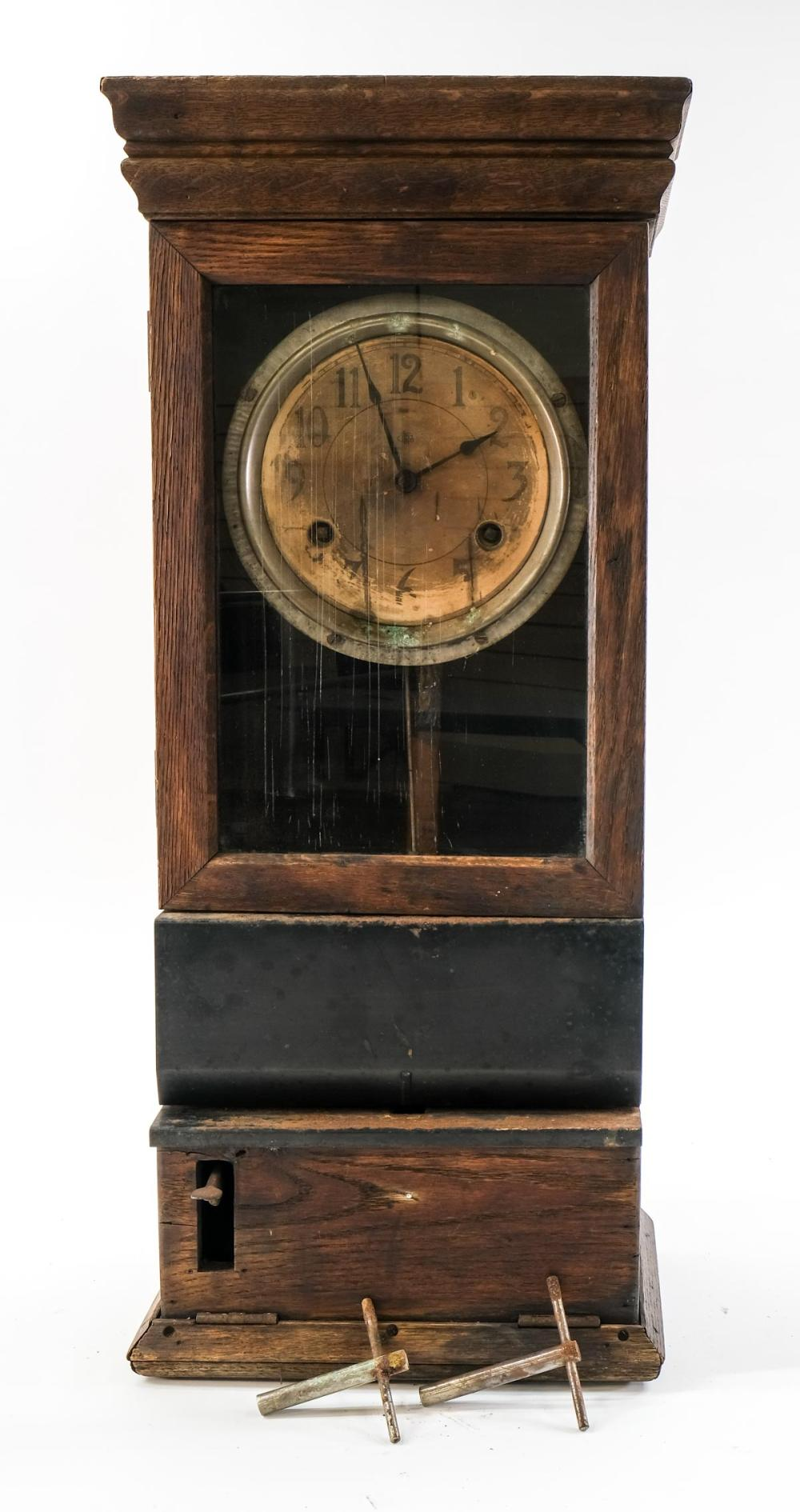 Antique Mechanical Time Clock