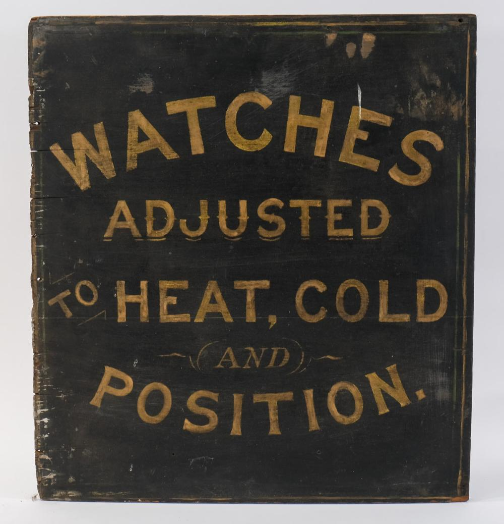 Antique Watch or Watchmakers Trade Sign