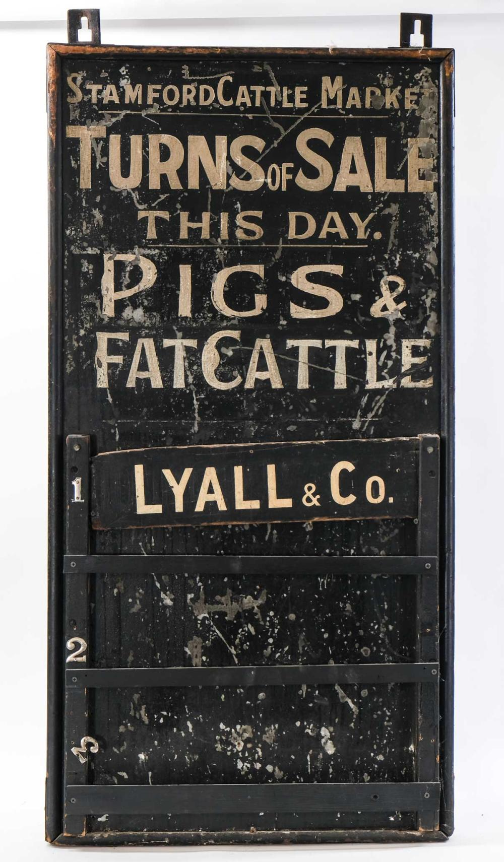 Antique Painted Cattle Auction Trade Sign