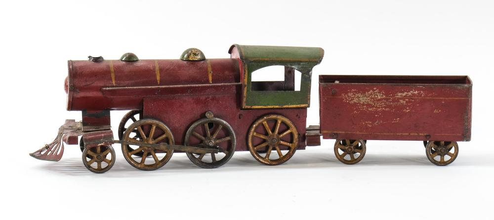 Antique Hill Climber Tin Toy Friction Locomotive