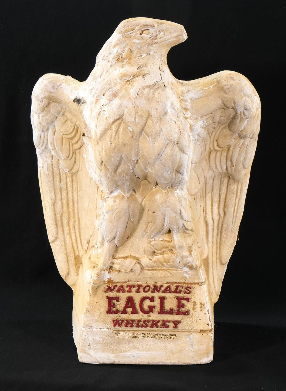 National's Eagle Whiskey Advertising Figure