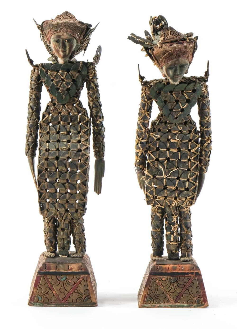 Pair of Balinese Coin Figures