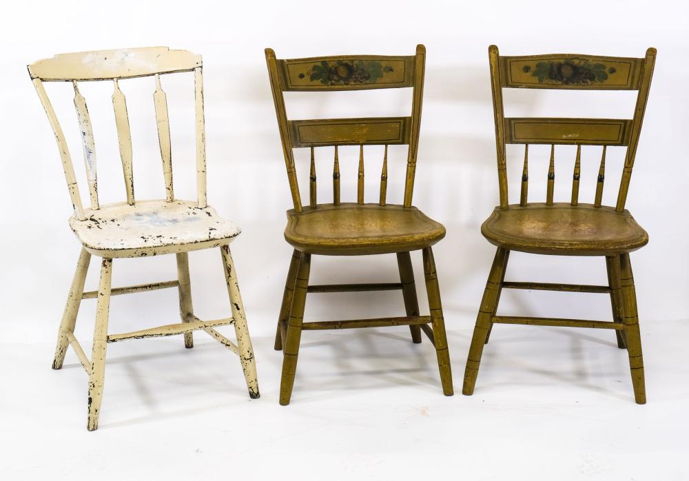 Three Antique Country Chairs