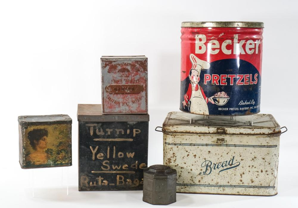 Kitchen and Advertising Tins