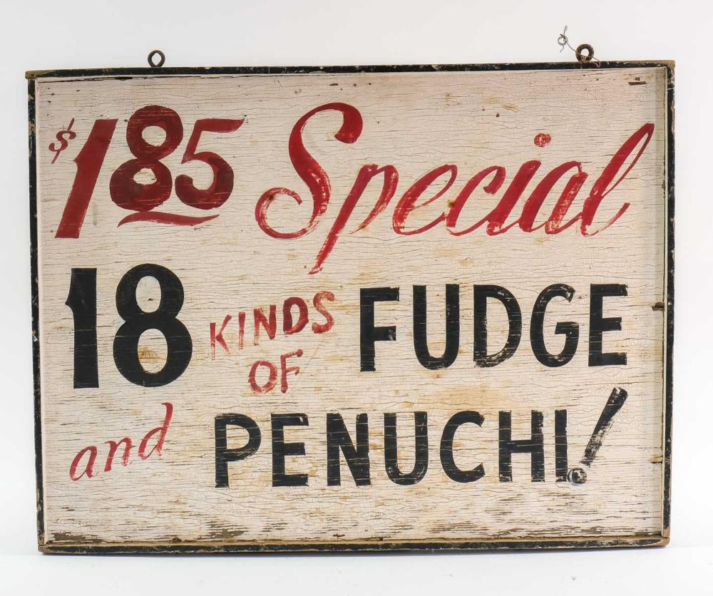 Double Sided Country Store Fudge Sign