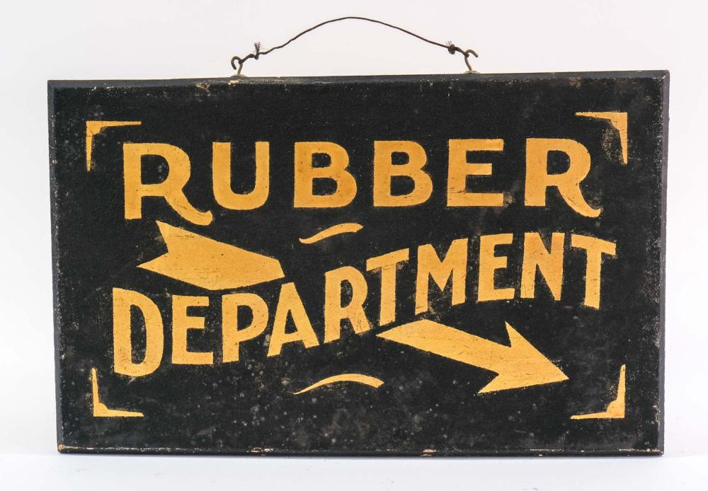 Rubber Department Trade Sign