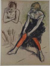 Edgar Degas Dancer with Red Stockings