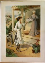 Pope Columbia shaft driven bicycle poster