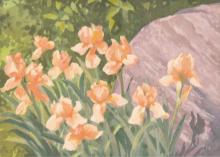 """Frederick Buchholz, """"Cameo Iris"""" watercolor"""