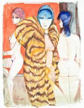 Charles Levier (1920-2003) Three nudes