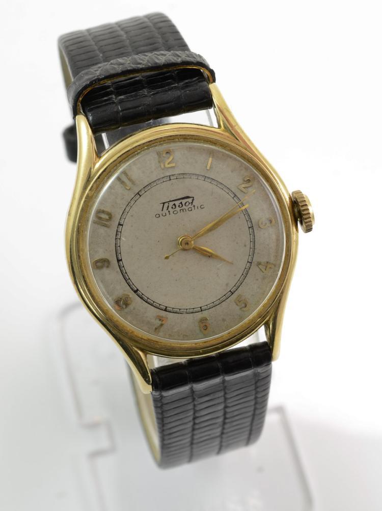 mens vintage 14k tissot automatic wrist
