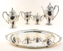 Rogers Marquise Silverplate Tea Service