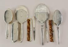 Art Deco Sterling Silver Vanity Group