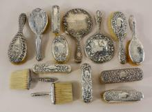 Victorian Sterling Silver Vanity Group