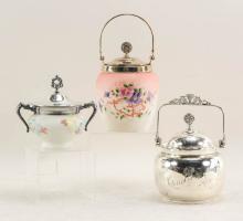 Three Antique Cracker Jars