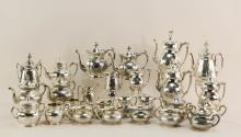 Group of Victorian Aesthetic coffee services