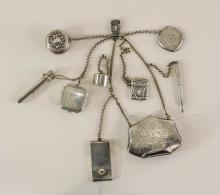 Antique Sterling Silver Chatelaine