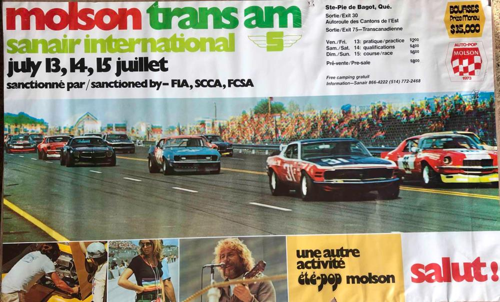Original 1973 Molson Trans AM race poster