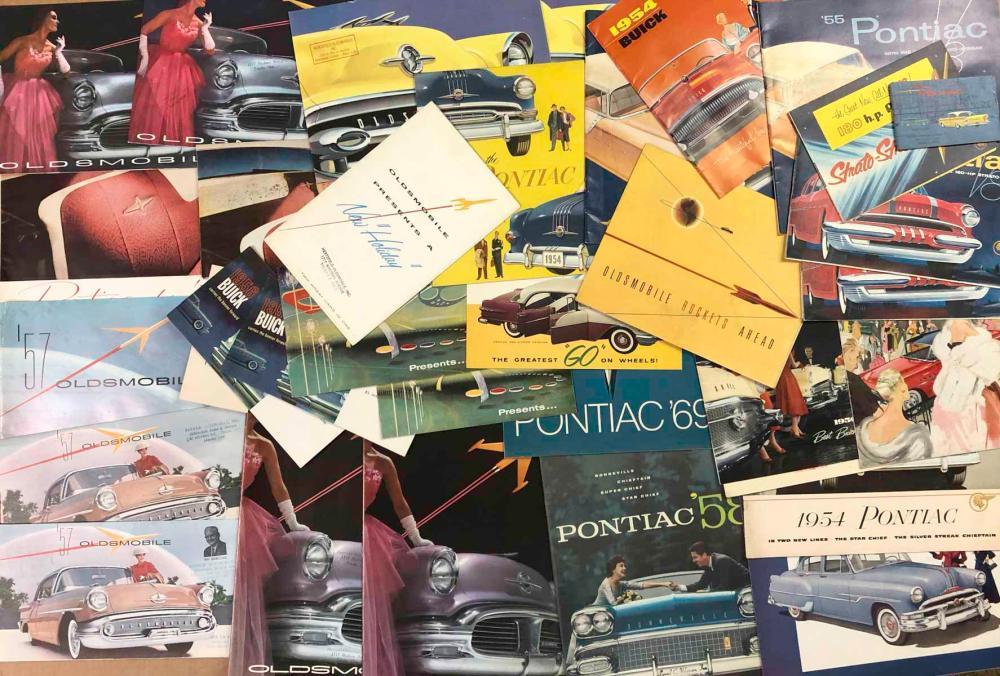 1950's Buick, Pontiac, Oldsmobile brochures