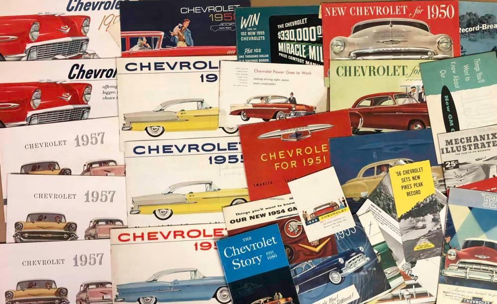 1950's Chevrolet and Corvette brochures