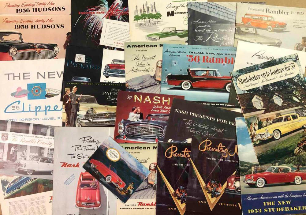1950's Packard, Stude, Nash, Hudson Willys, broc