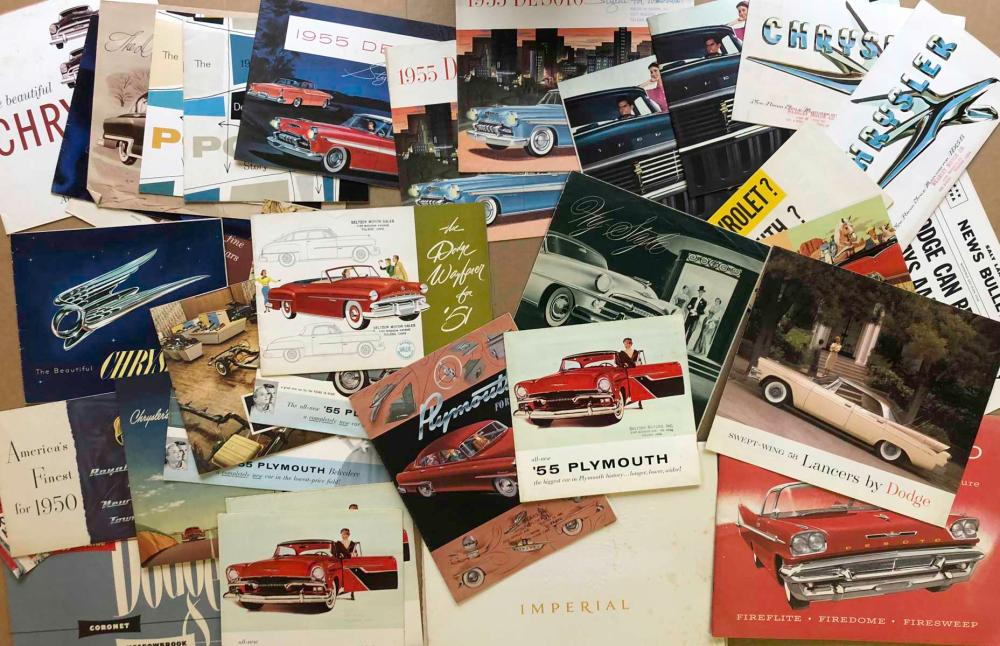 1947-58 Mopar brochures incl Chrysler 300