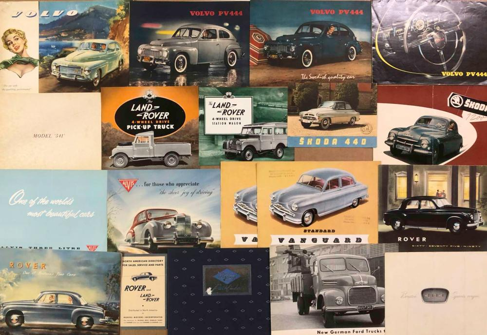 Misc 50's,60's Euro broc - Land Rover, Skoda, Volv