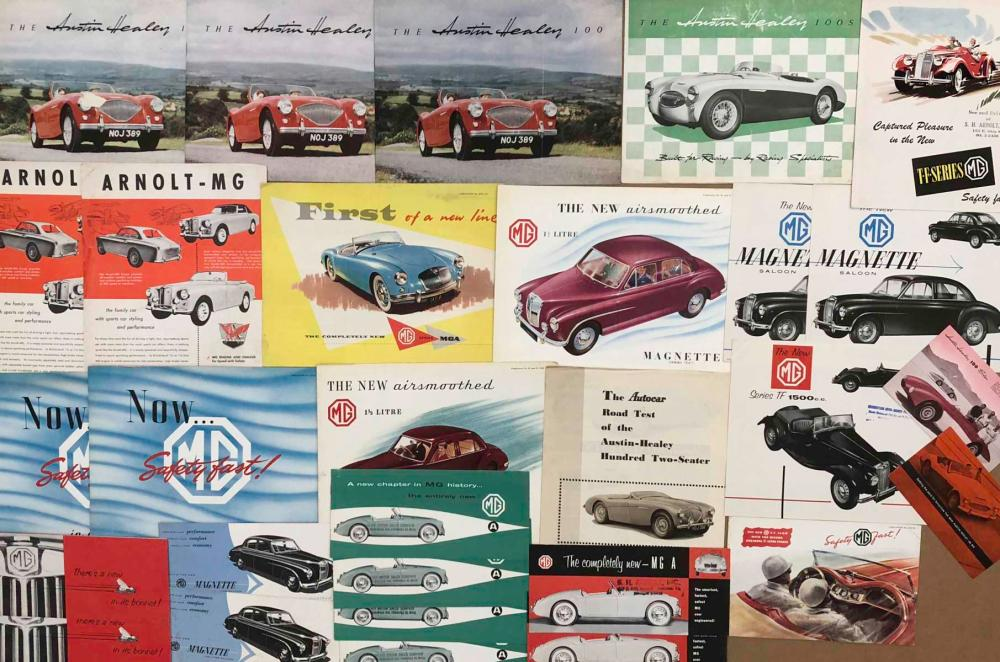 1950's-60's Austin Healey, MG brochures