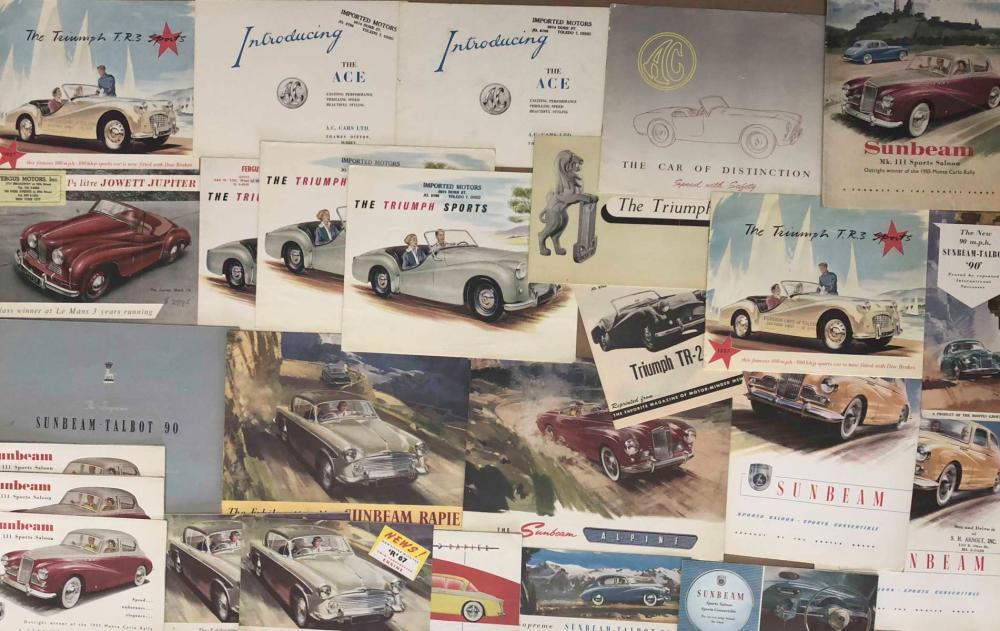 1950's- 60's Triumph, Sunbeam brochures