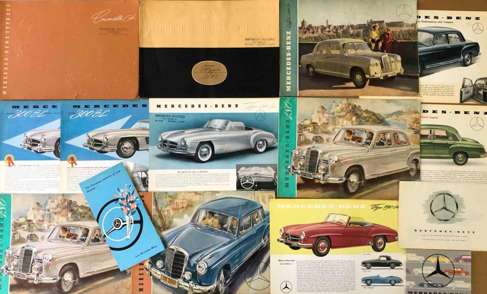1950's-60's Mercedes Benz brochures