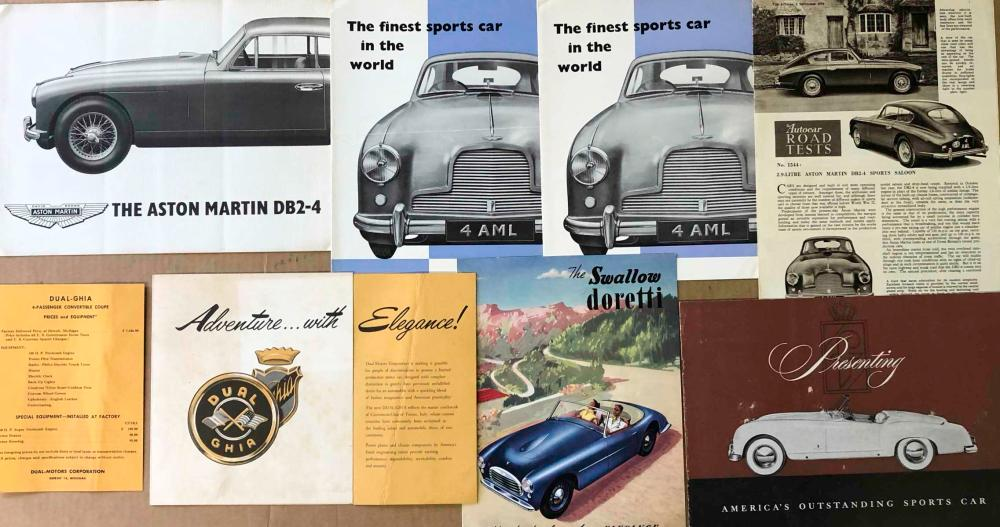 Aston, Doretti, Dual Ghia, Nash Healey broc