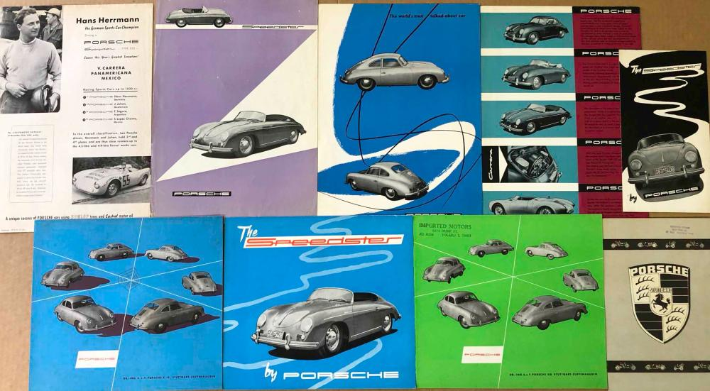 Early Porsche 356 brochures