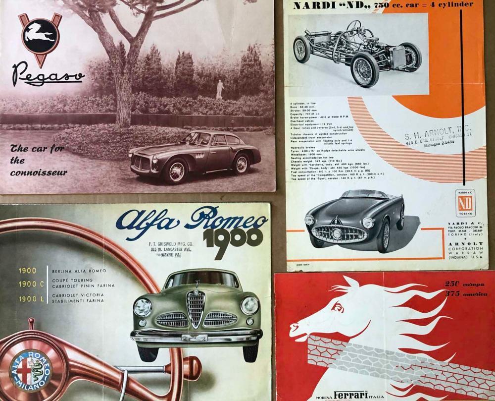 Ferrari 250, 375, Alfa, Nardi, Pegaso broc