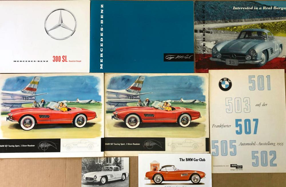 Merc Benz 300, 190 SL, BMW 507, 503 items