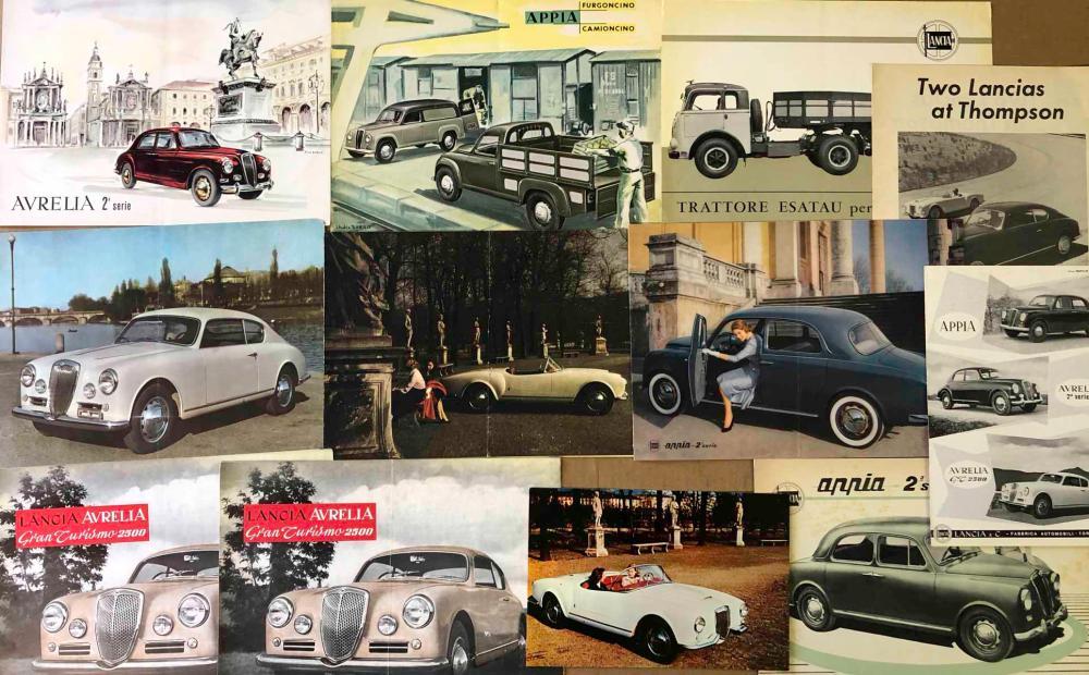 1950's Lancia brochures incl B 24 Spyder