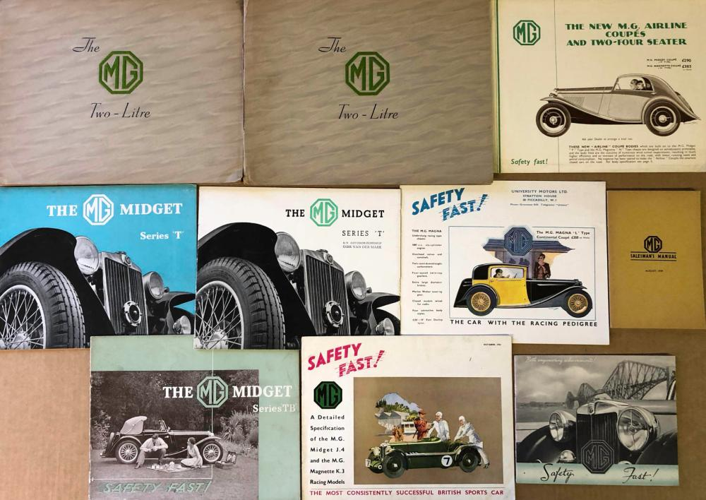 1930's-40's MG - incl K3, J4, other models broc