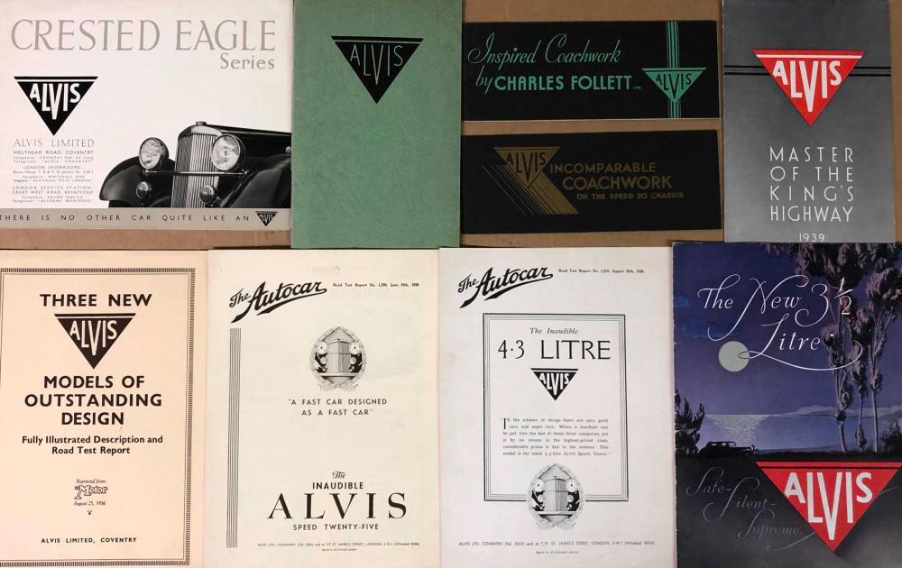 Prewar Alvis brochures
