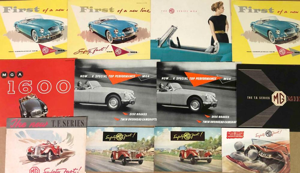 1950's-60's British sports car brochures