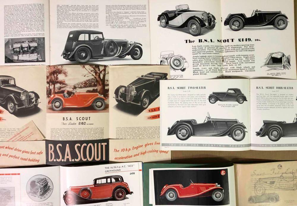 1920's-50's British brochures