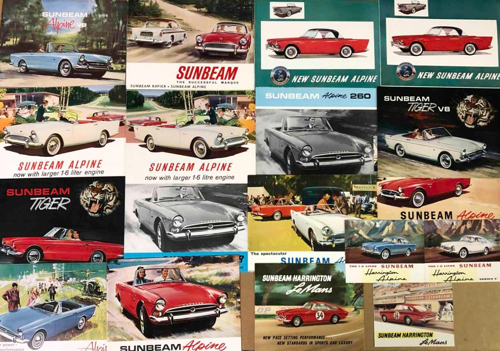 Sunbeam sports car brochures