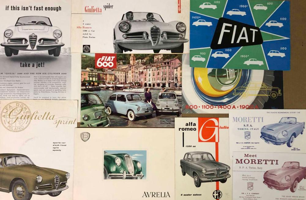 Early postwar Italian brochures