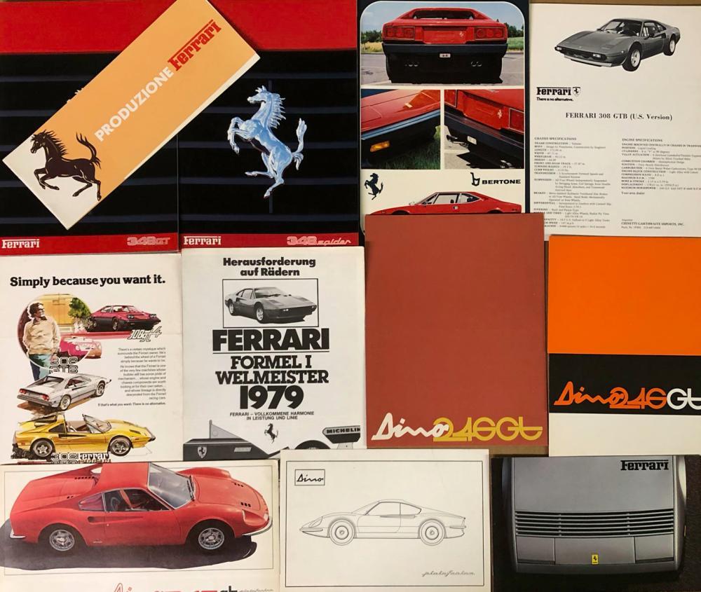 1960's-70's Ferrari brochures - various models