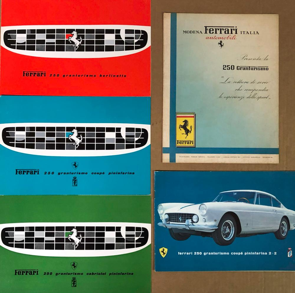 Five Ferrari brochures - various 250 models