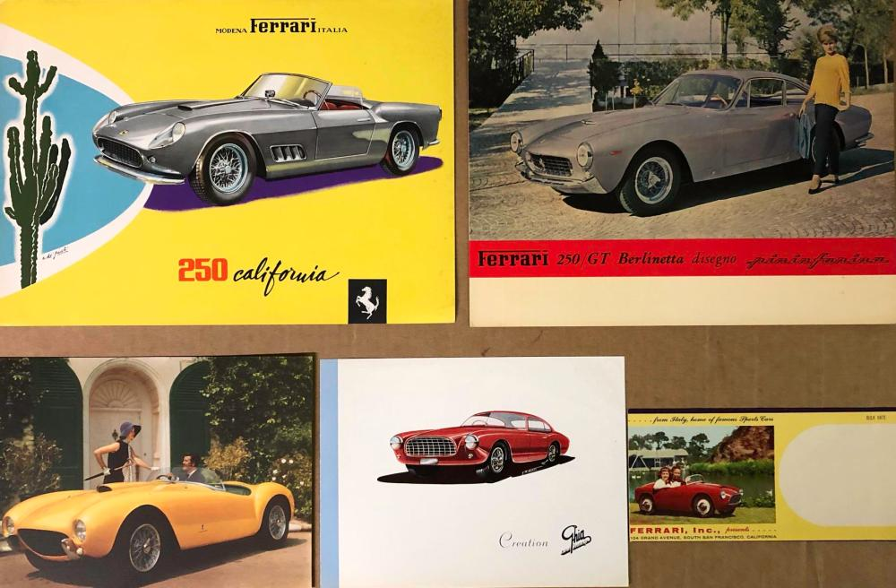 Ferrari items - 1950's various models