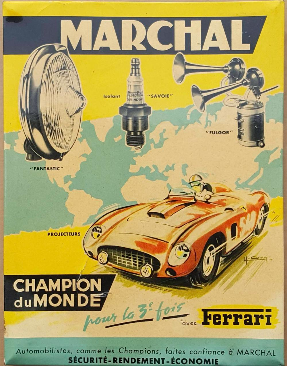 Marchal Ferrari accessory counter sign