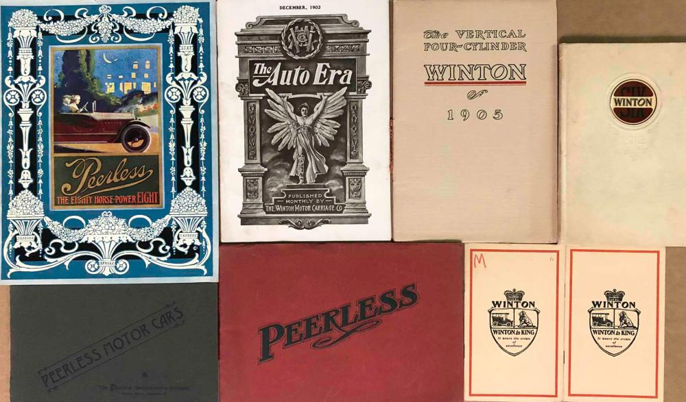 Early Peerless and Winton brochures