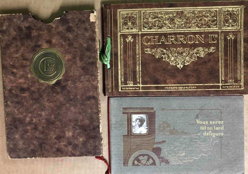 1912 Charron string bound catalog /slip case
