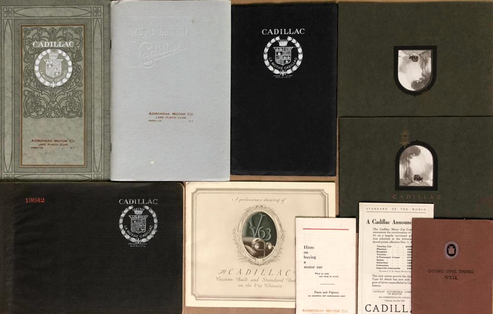 Early Cadillac brochures